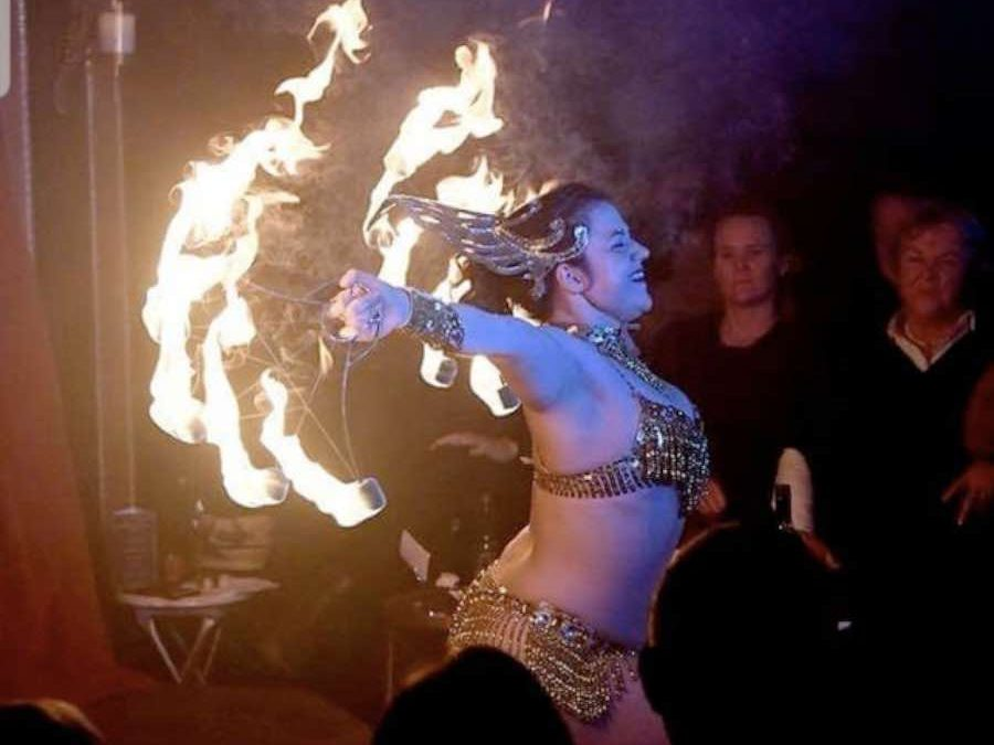 Dance Icon & Circus Act Performing Fire Contortion